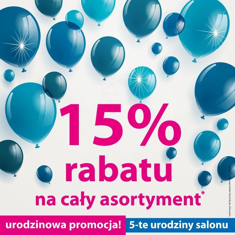 15% Rabatu na cały asortyment - zdjęcie od BLU salon łazienek Kwidzyn