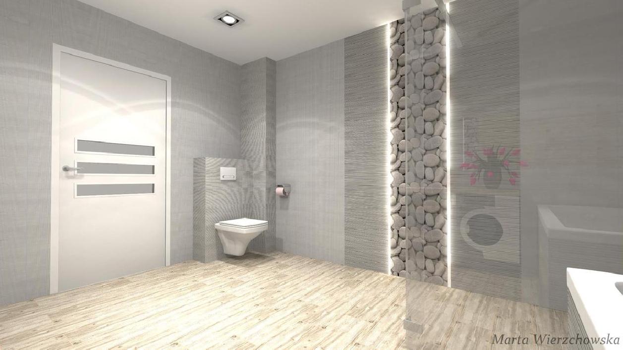 cement kamień i drewno - zdjęcie od BLU salon łazienek Słupsk
