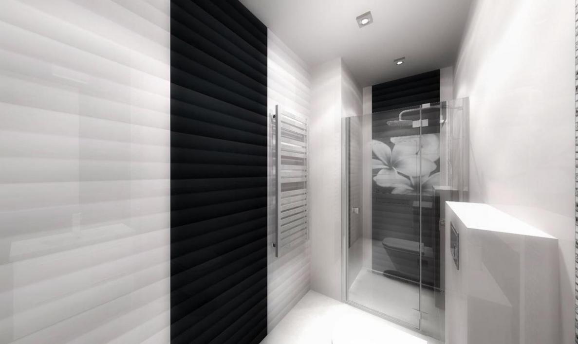 Biel i czerń w łazience - zdjęcie od BLU salon łazienek Słupsk