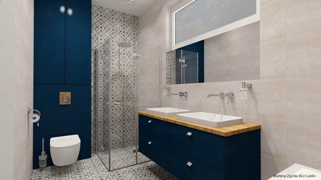 Projekt stylowej łazienki w stylu skandynawskim BLU Lublin