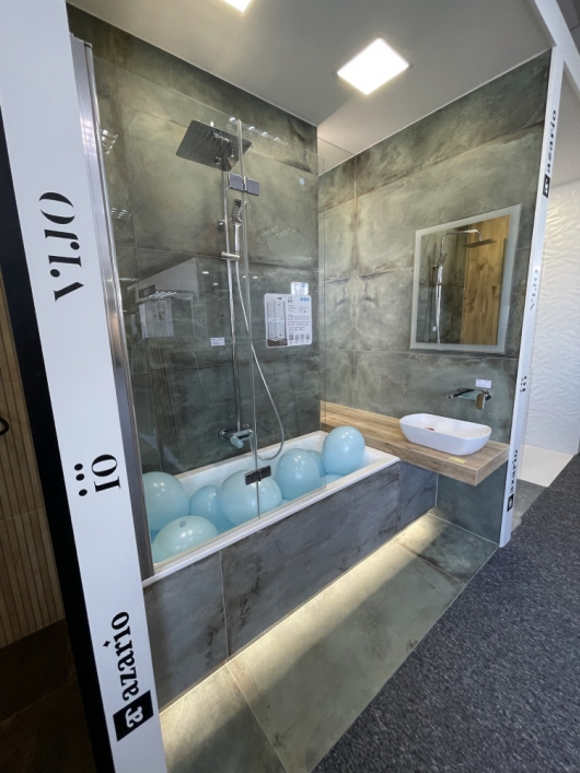 Oryginalne płytki w łazience w BLU Kędzierzyn-Koźle