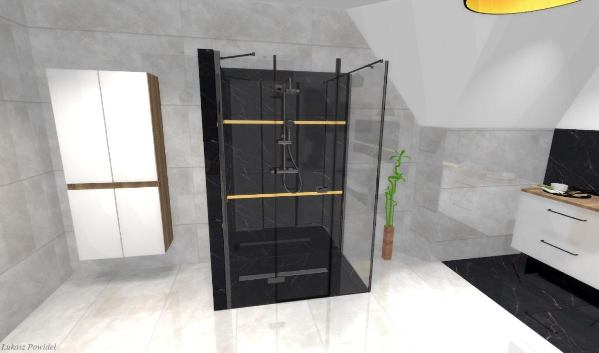 Stylowa łazienka w bieli i czerni BLU Salon Łazienek Lębork