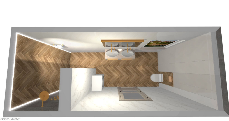 Funkcjonalna łazienka z wygodną kabiną walk-in BLU Salon Łazienek Lębork