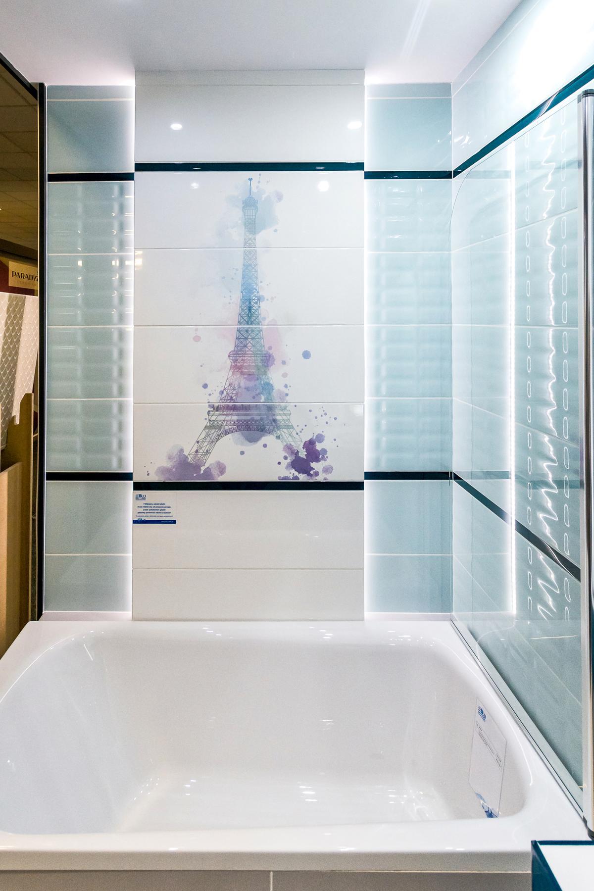 Akwarelowa Wieża Eiffla - Opoczno Parisen - zdjęcie od BLU salon łazienek Łódź