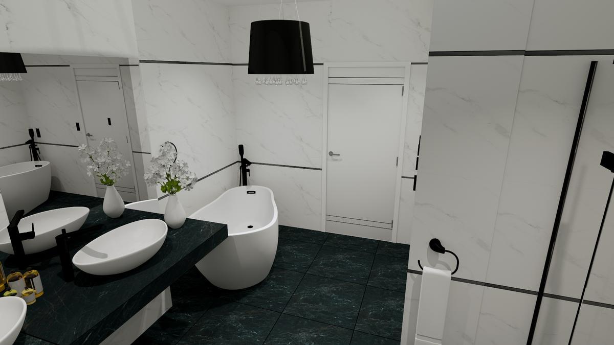 Aranżacja eleganckiej łazieki - zdjęcie od BLU salon łazienek Chełm