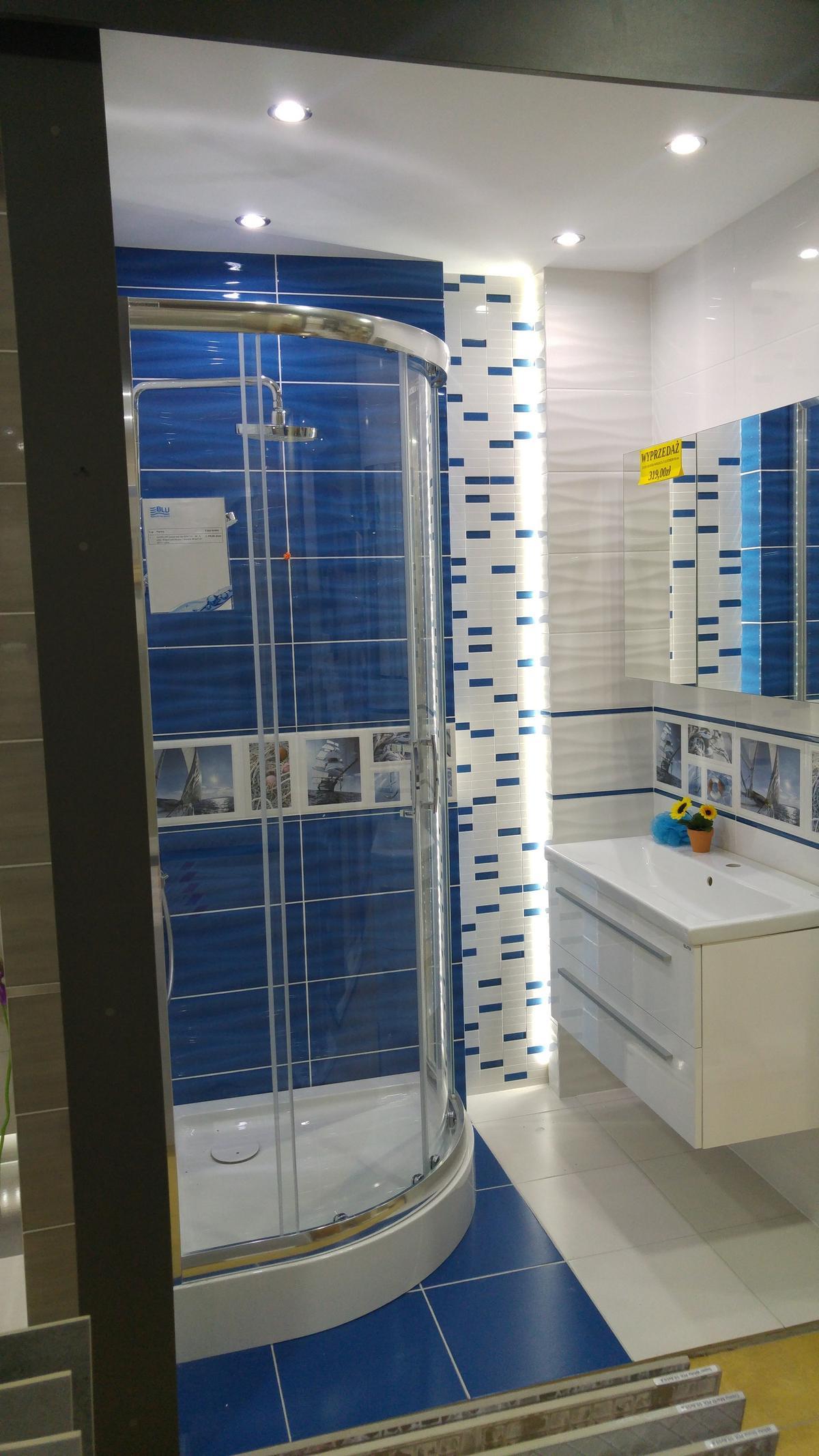 Aranżacja łazienki Domino Joy Wave - zdjęcie od BLU salon łazienek Ciechanów