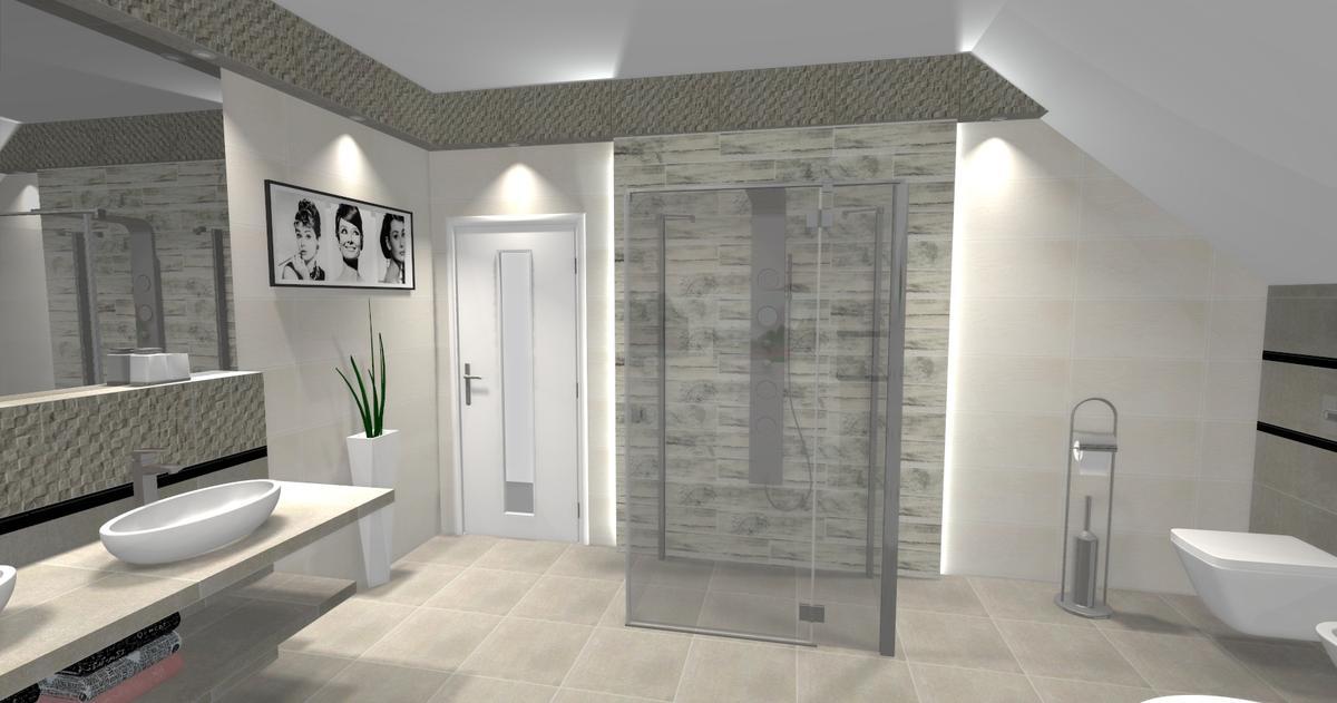 Aranżacja łazienki Tubądzin Timbre - zdjęcie od BLU salon łazienek Ciechanów