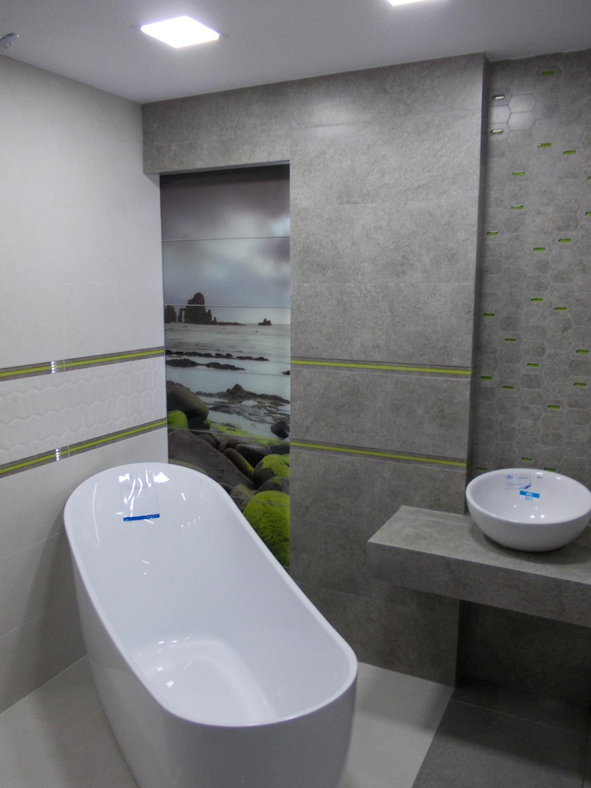 Aranżacja łazienki w kolekcji Tubądzin Lemon Stone - zdjęcie od BLU salon łazienek Bochnia