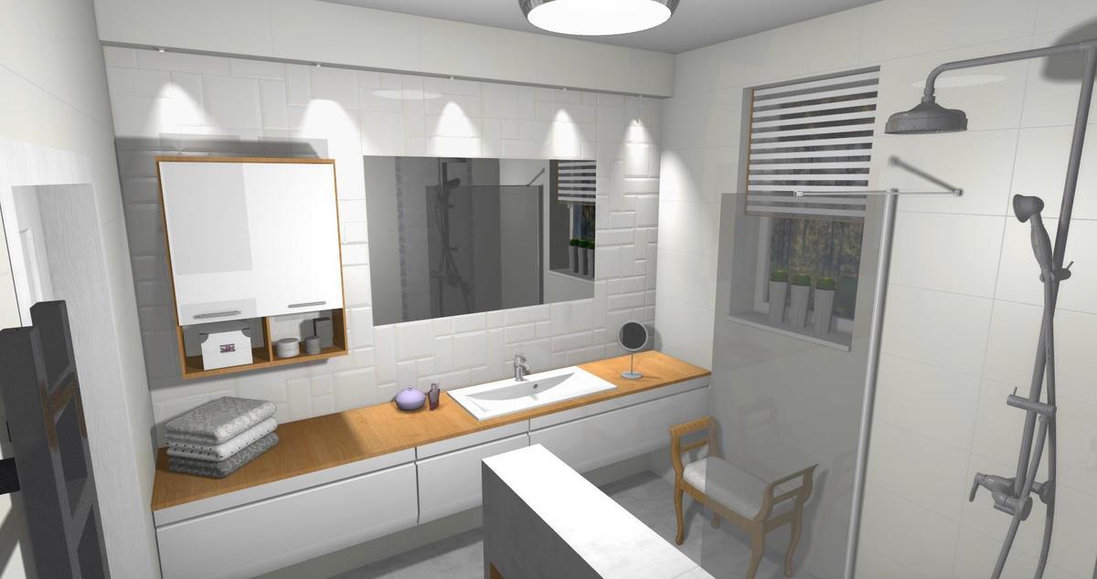Aranżacja łazienki w nowoczesnym stylu  - zdjęcie od BLU salon łazienek Lębork