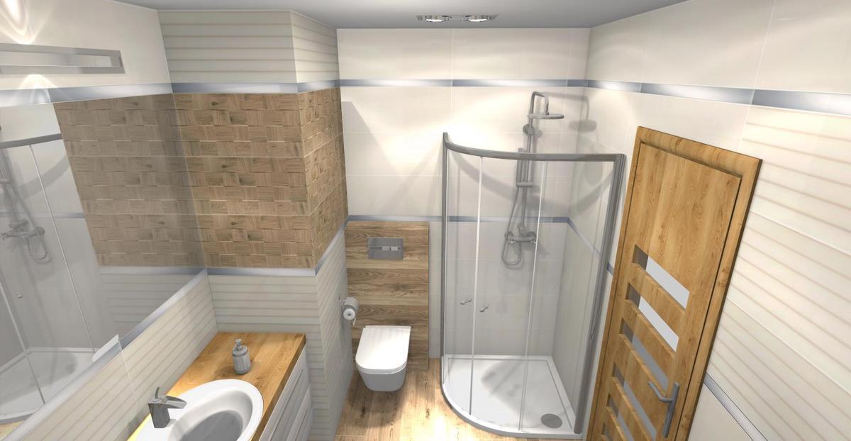 Aranżacja łazienki w płytkach Tubądzin Royal Place - zdjęcie od BLU salon łazienek Łomża