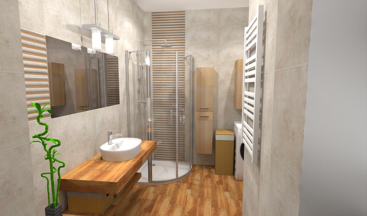 Aranżacja przytulnej, beżowej łazienki - zdjęcie od BLU salon łazienek Bielsko-Biała
