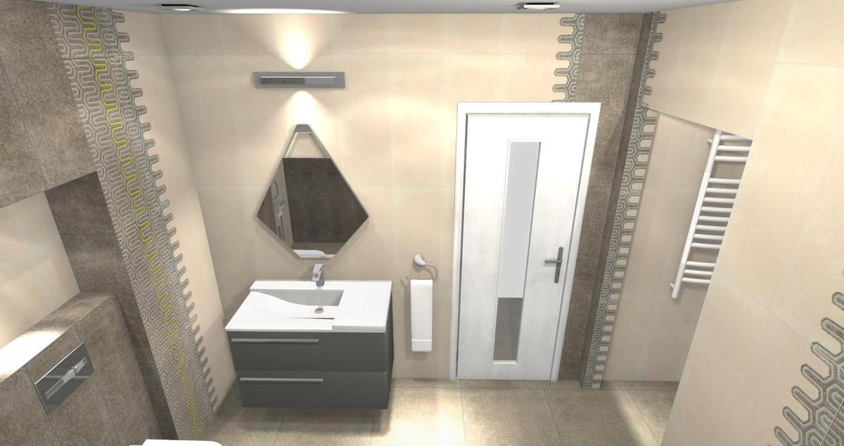 Aranżacje łazienki w Tubądzin Lemon Stone - zdjęcie od BLU salon łazienek Łomża