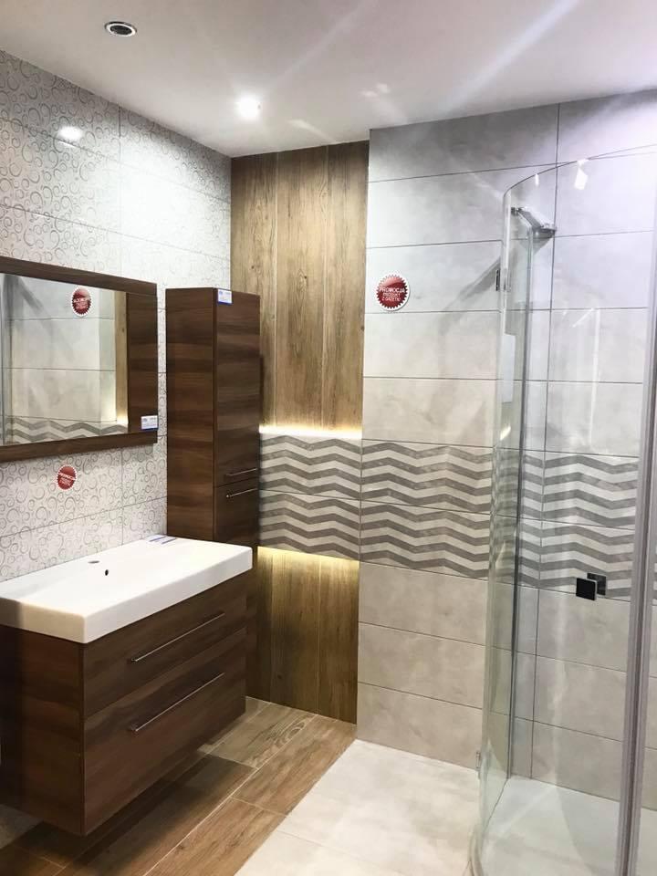 Azario Sigma - Elegancka szara łazienka - zdjęcie od BLU salon łazienek Łódź