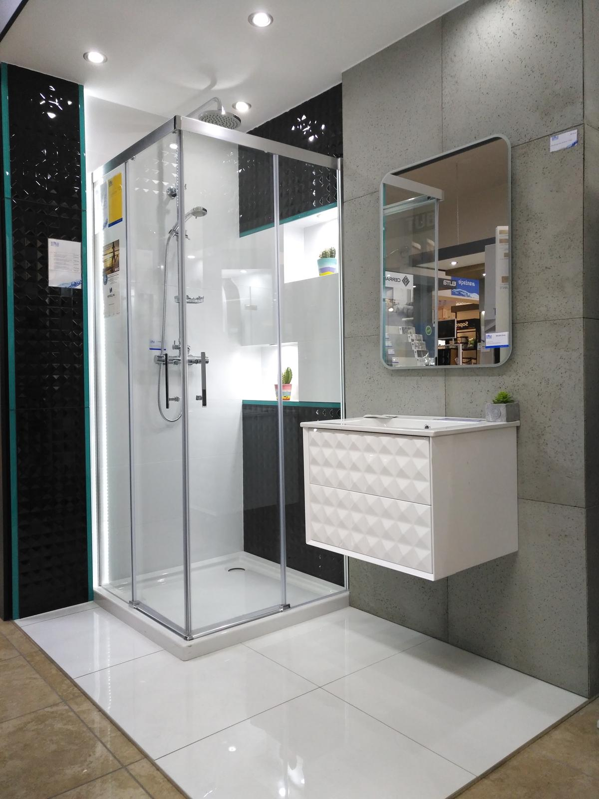 Beton w łazience - zdjęcie od BLU salon łazienek Dębica