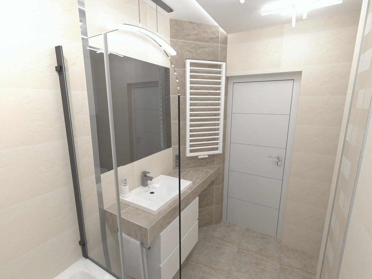 Beżowa łazienka TUBĄDZIN BLINDS - zdjęcie od BLU salon łazienek Inowrocław