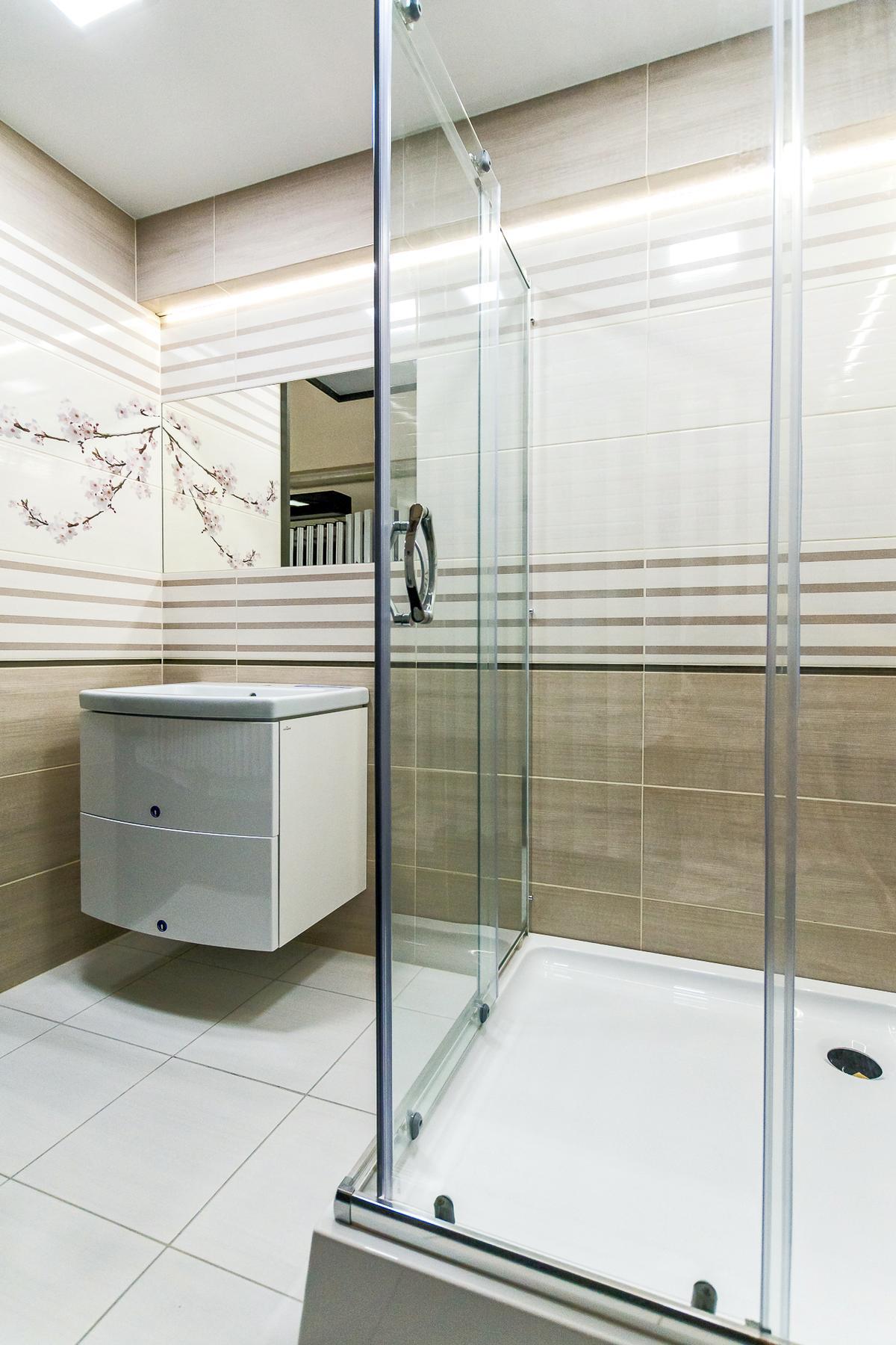 Biało beżowa łazienka z kolekcją Cersanit Kersen - zdjęcie od BLU salon łazienek Giżycko
