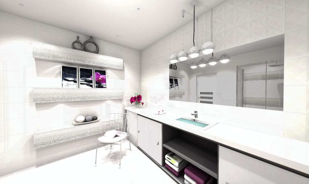 Biel i akcent srebrny - zdjęcie od BLU salon łazienek Słupsk