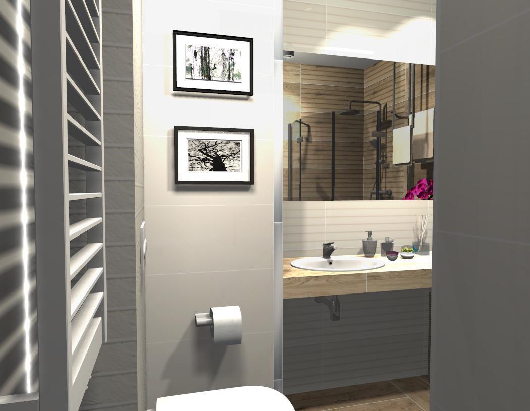 Biel i drewno - Tubądzin Royal Place - zdjęcie od BLU salon łazienek Płońsk