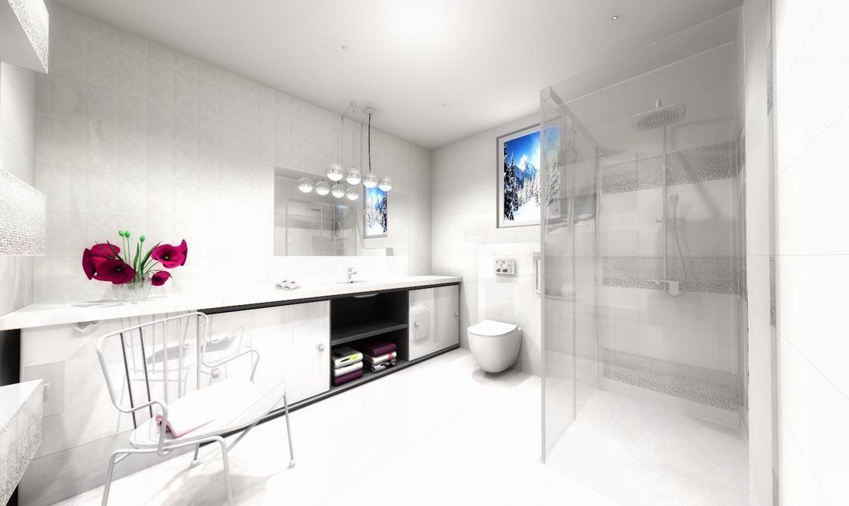 Biel z akcentem srebra - zdjęcie od BLU salon łazienek Słupsk