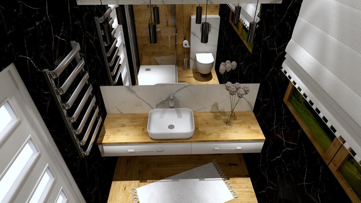 Czarna łazienka - Opoczno Royal Black - zdjęcie od BLU Salon Łazienek Tarnobrzeg
