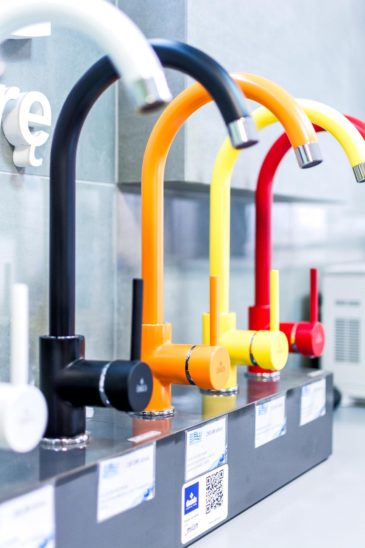 Deante Milin - szeroki wybór kolorowych baterii kuchennych - zdjęcie od BLU salon łazienek Włocławek