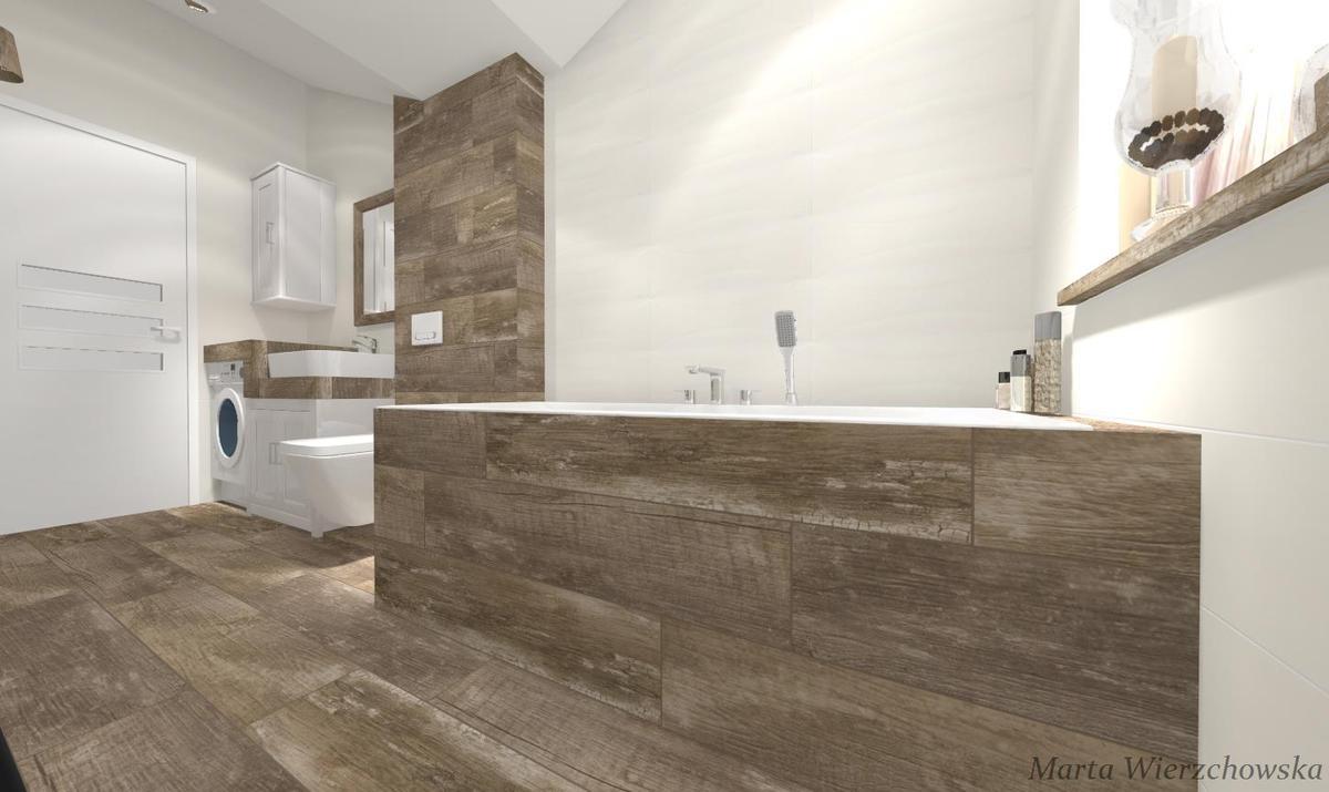 drewno biel i beż - zdjęcie od BLU salon łazienek Słupsk