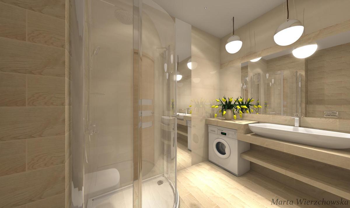 drewno i beż w łazience - zdjęcie od BLU salon łazienek Słupsk