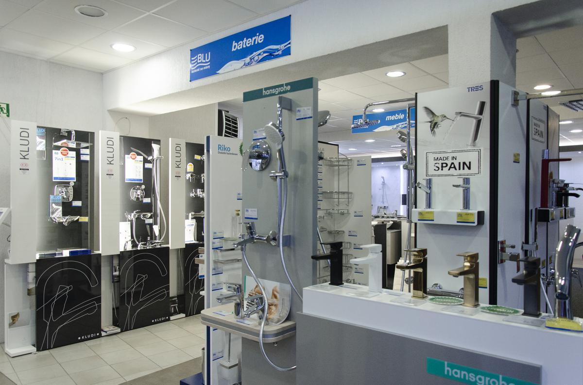 Ekspozycja baterii łazienkowych w BLU Kołobrzeg - zdjęcie od BLU salon łazienek Kołobrzeg