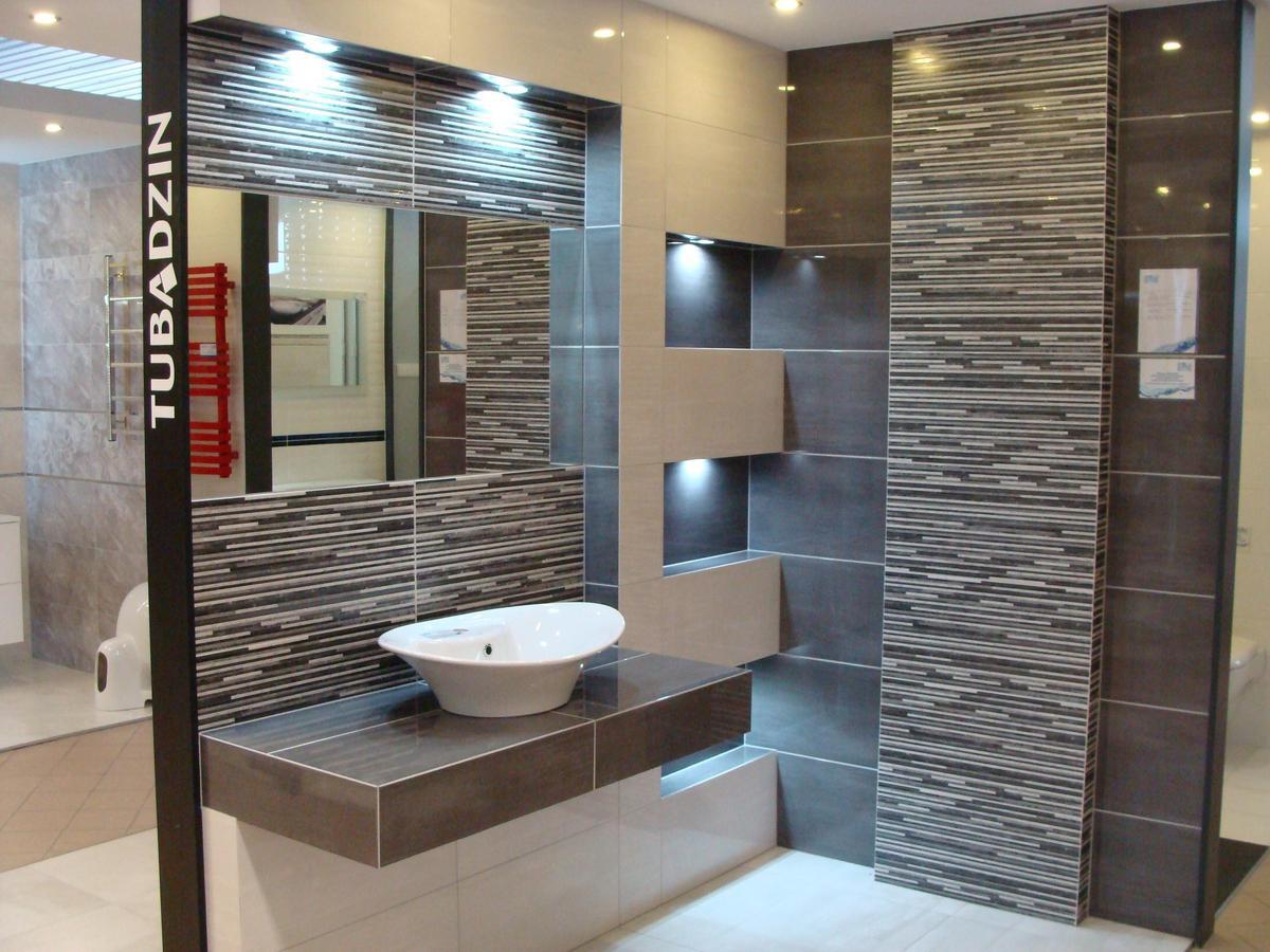 Ekspozycja łazienki w płytkach Polcolorit Centro - zdjęcie od BLU salon łazienek Mława