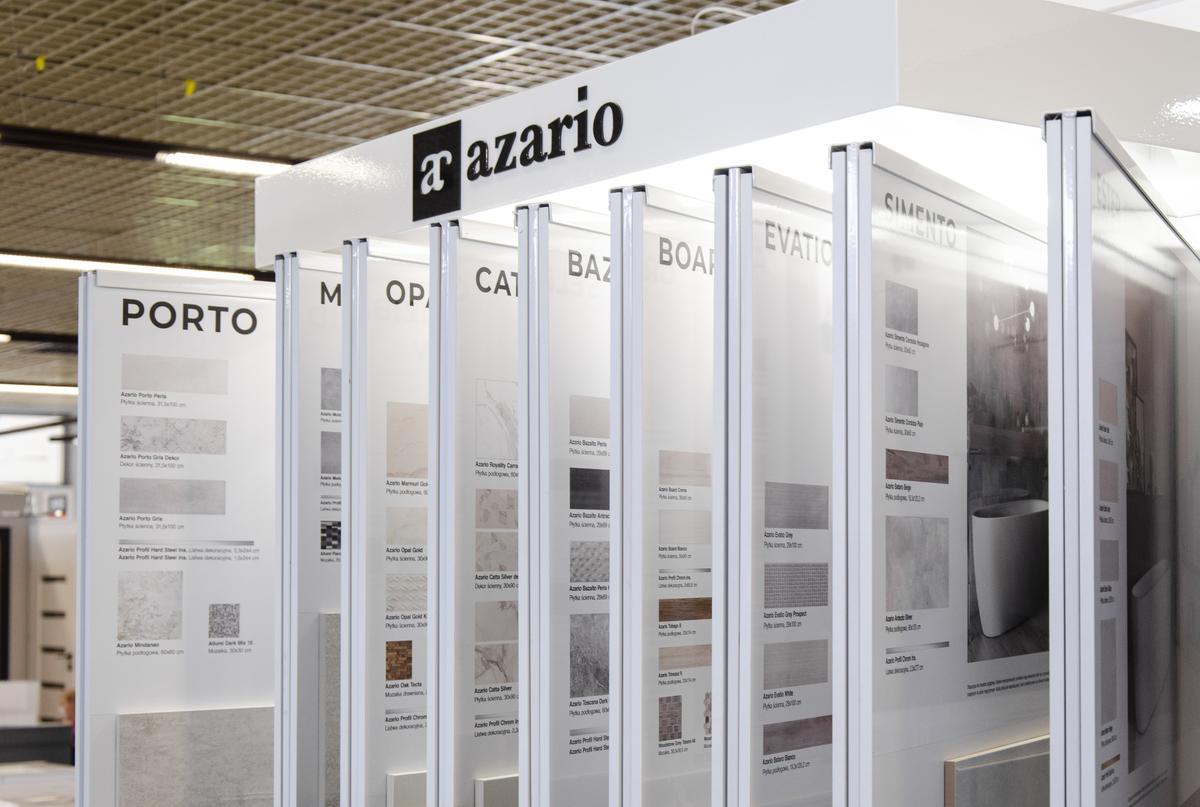 Ekspozycje płytek Azario w BLU Łowicz - zdjęcie od BLU salon łazienek Łowicz