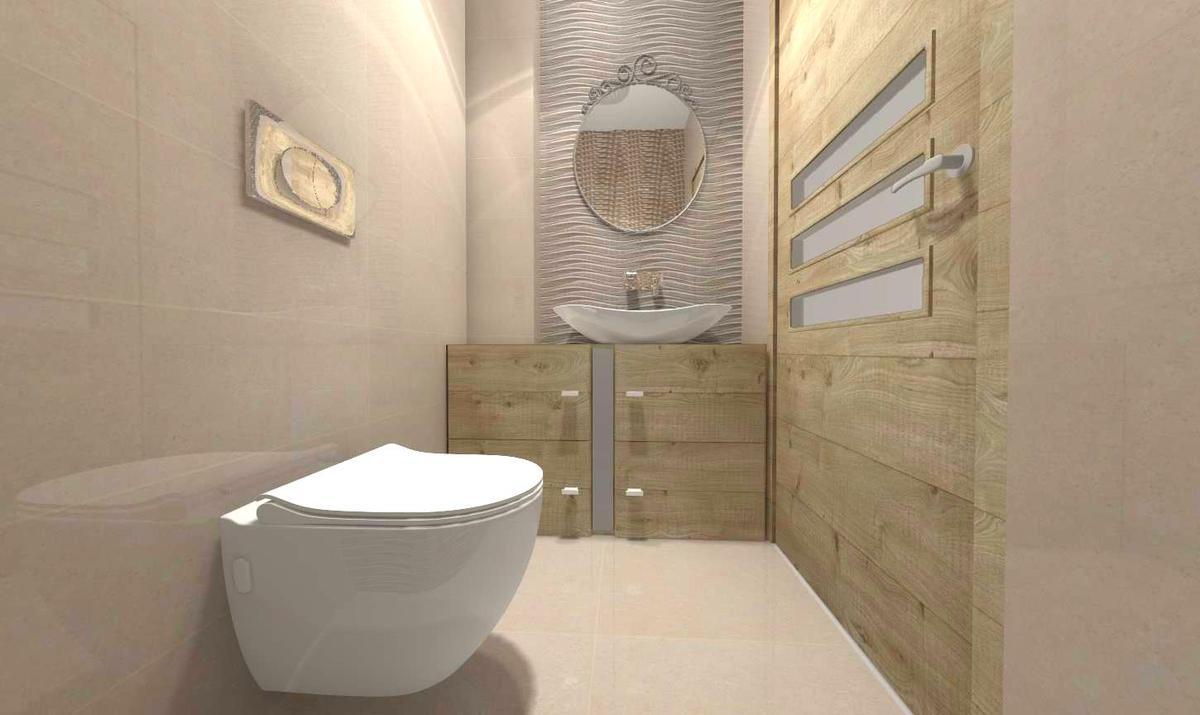 fala beż w łazience - zdjęcie od BLU salon łazienek Słupsk