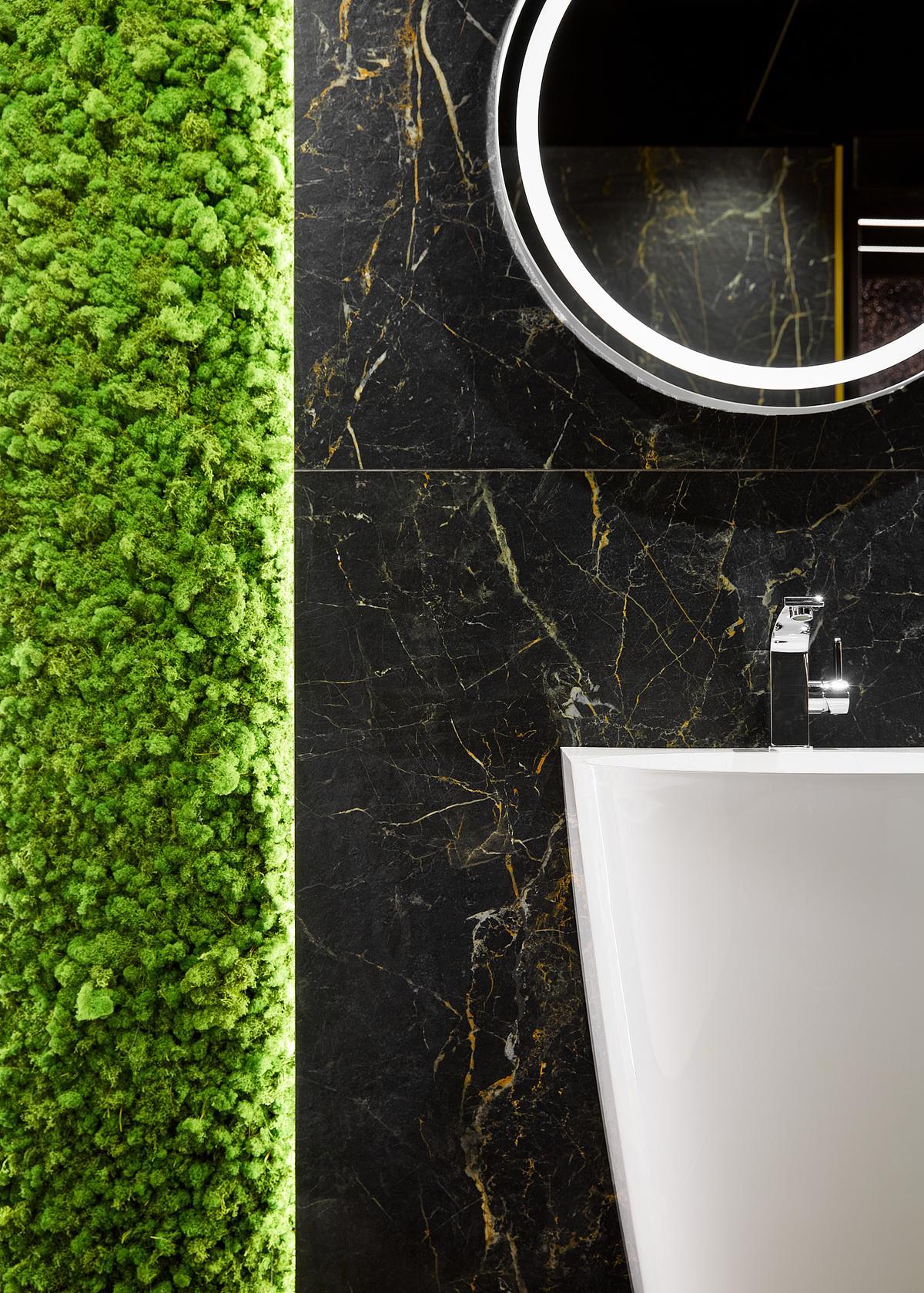 Inspirowane szlachetnością marmuru płytki gresowe Marquina gold - zdjęcie od BLU salon łazienek Elbląg