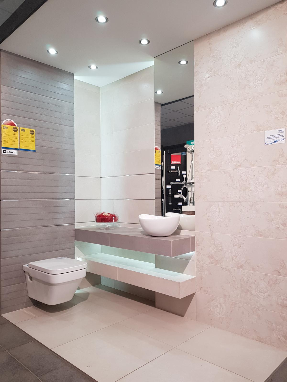 Jasna aranżacja łazienki w kolekcji Azario Adonis - zdjęcie od BLU salon łazienek Cieszyn