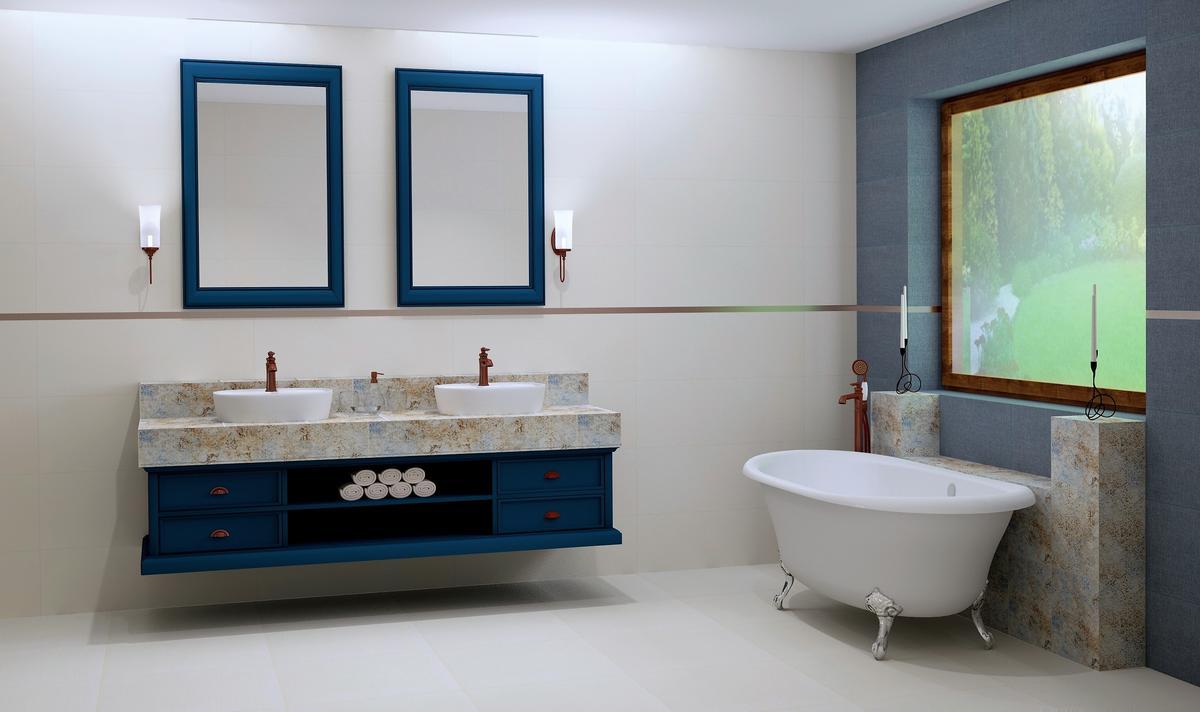 Jasna łazienka w stylu retro - zdjęcie od BLU Salon Łazienek Tarnobrzeg