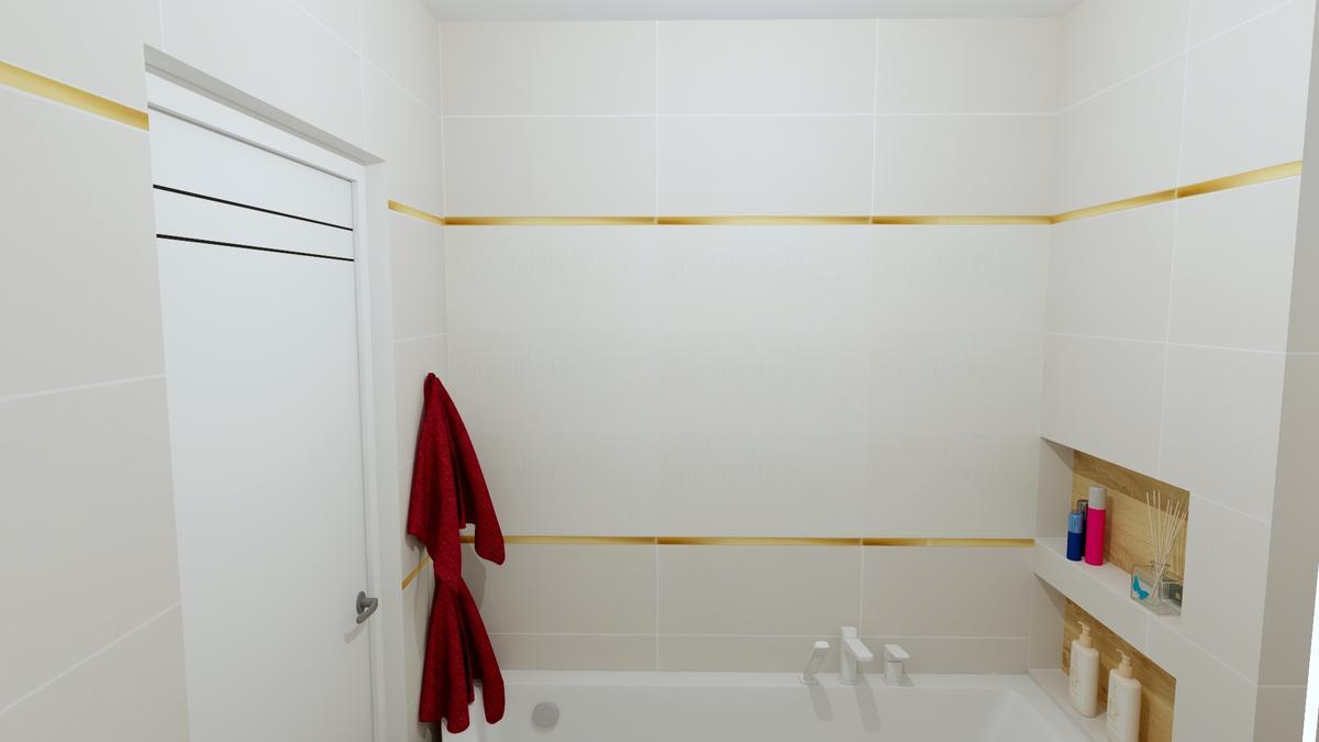 Jasne płytki w łazience - zdjęcie od BLU salon łazienek Chełm