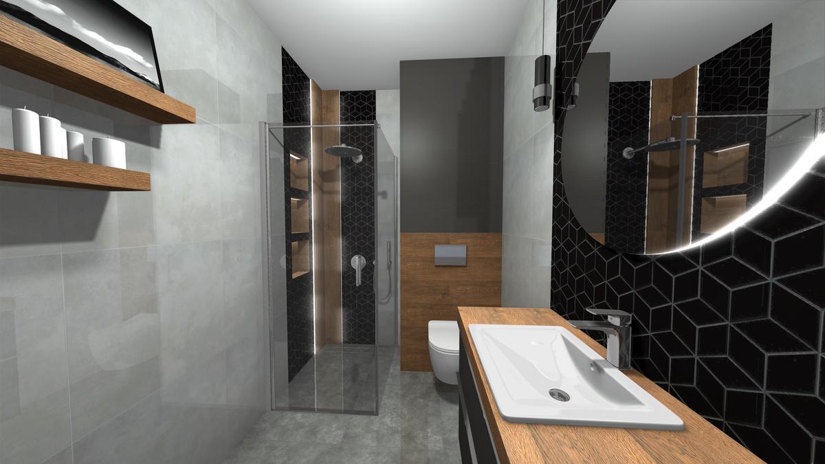 Kabina prysznicowa w małej łazience - zdjęcie od BLU salon łazienek Krosno