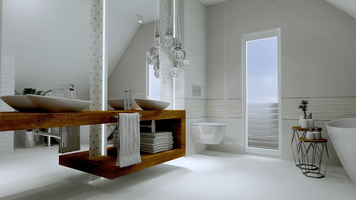 Klasyczna biel od Tubądzin - zdjęcie od BLU salon łazienek Ostrowiec Świętokrzyski