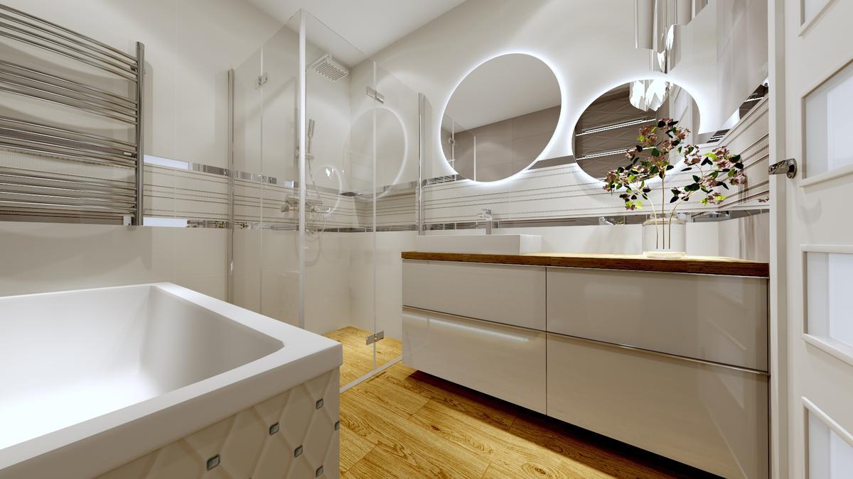 Klasyka zawsze na topie - biel i drewno od Tubądzin - zdjęcie od BLU salon łazienek Ostrowiec Świętokrzyski