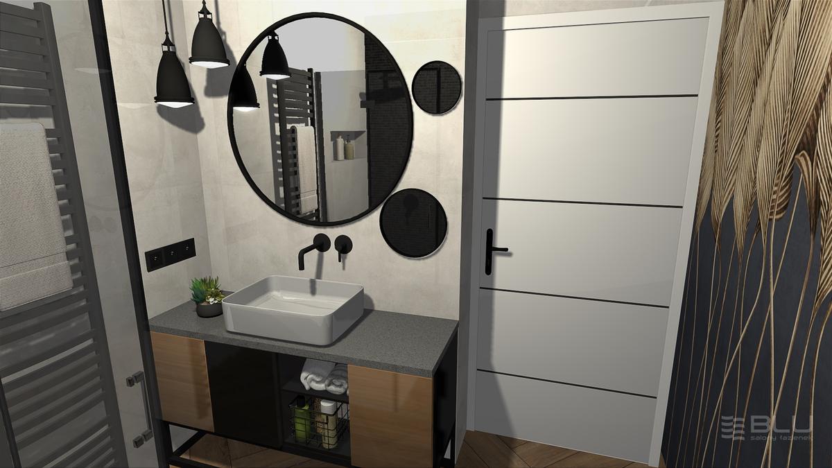 Koncepcja na szarą łazienkę z płytką Nowa Gala Mirador lappato - zdjęcie od BLU salon łazienek Zamość