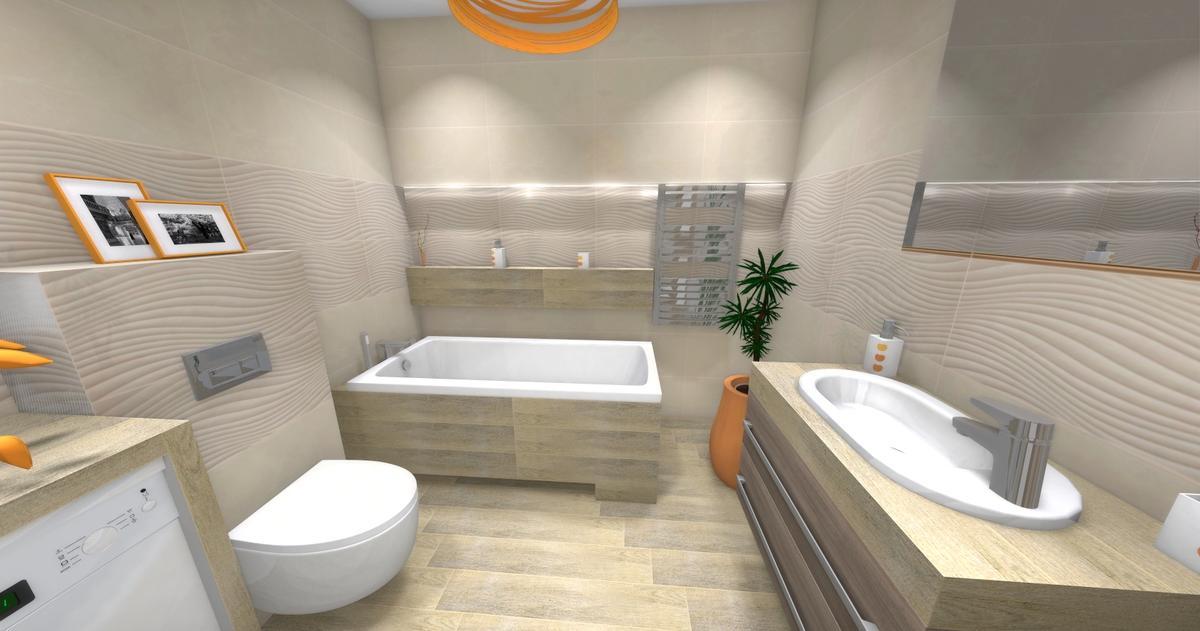łazienka ciepły klimat - zdjęcie od BLU salon łazienek Dębica