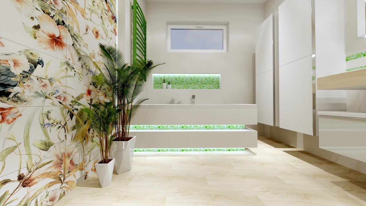 Łazienka inspirowana naturą - Tubądzin Modern pearl - zdjęcie od BLU salon łazienek Ostrowiec Świętokrzyski
