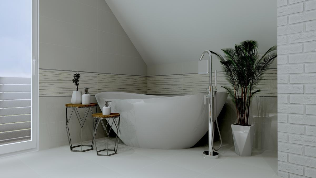 Łazienka na poddaszu - zdjęcie od BLU salon łazienek Ostrowiec Świętokrzyski