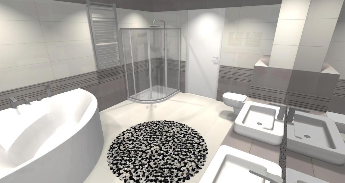 Łazienka nowość biel szrość - zdjęcie od BLU salon łazienek Skierniewice