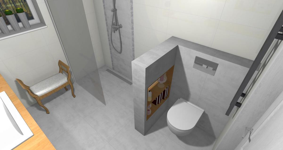 Łazienka w bieli i szarości - Egen Grey Soul  - zdjęcie od BLU salon łazienek Lębork