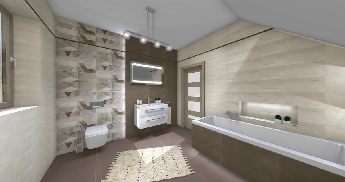 łazienka w ciepłym klimacie - zdjęcie od BLU salon łazienek Dębica
