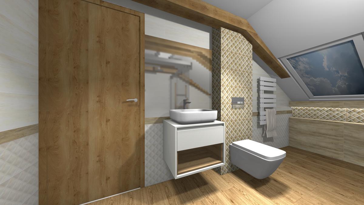 Łazienka w drewnie - zdjęcie od BLU salon łazienek Krosno