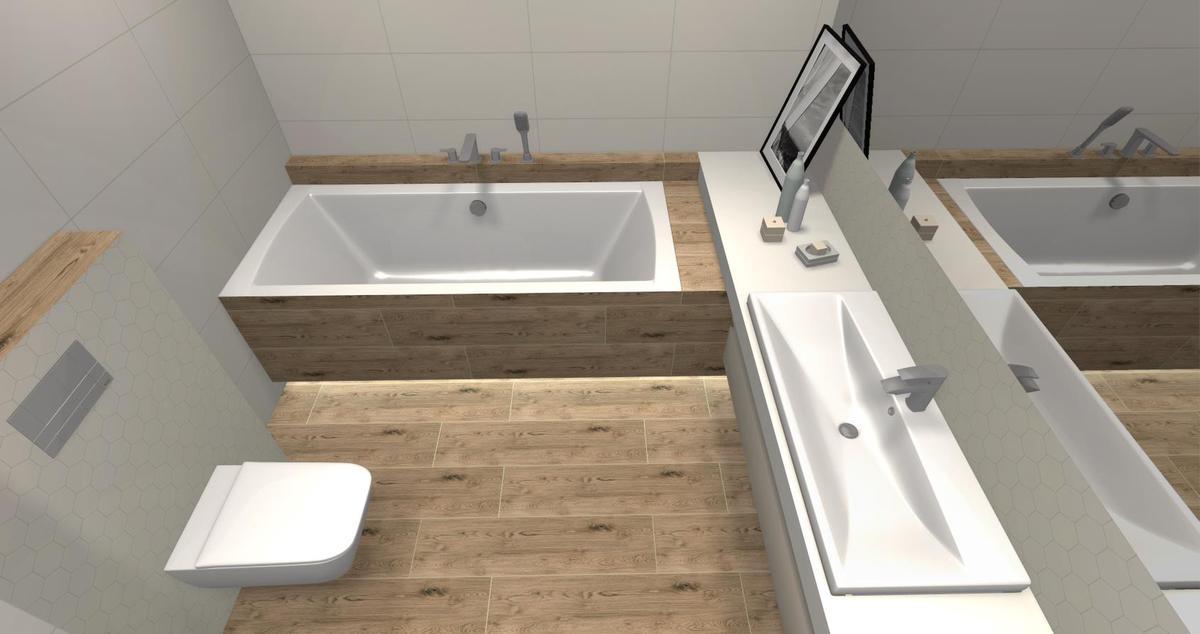 Łazienka w drewnie - zdjęcie od BLU salon łazienek Skierniewice