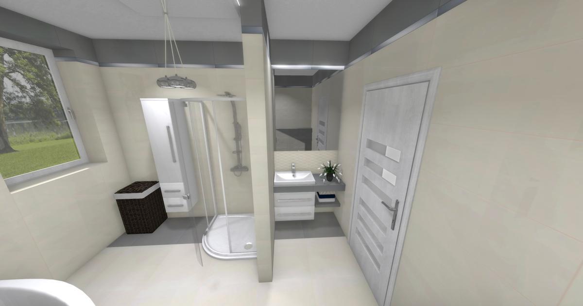 Łazienka w jasnych kolorach - zdjęcie od BLU salon łazienek Dębica