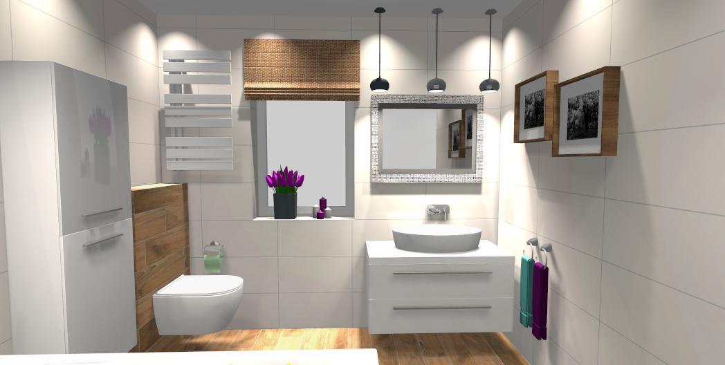 Łazienka w płytkach Tubądzin all in white - zdjęcie od BLU salon łazienek Gniezno