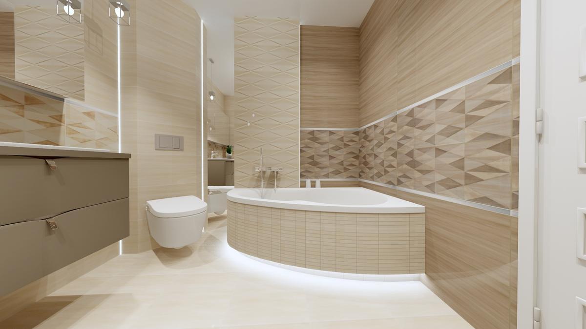 Łazienka z wanną w kolekcji Nursa od Tubądzin - zdjęcie od BLU salon łazienek Ostrowiec Świętokrzyski